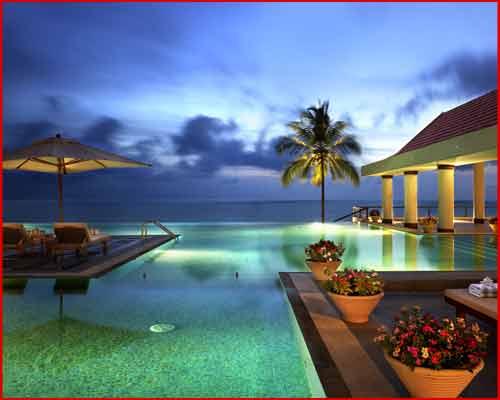 Leela kempinski beach resort infinity pool Resorts in kerala with swimming pool